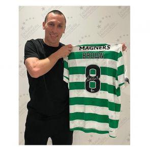 Scott Brown Signed Celtic Shirt. 2019-20. Premium Frame