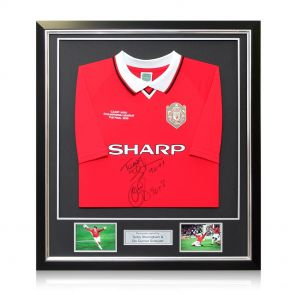 Signed And Framed  Manchester United Shirt
