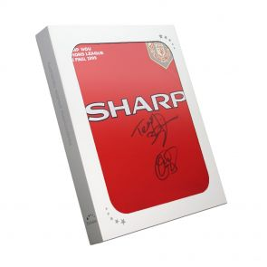 Sheringham Solskjaer Signed Shirt In Gift Box