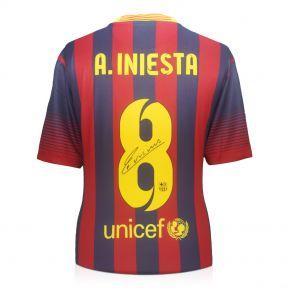 Signed Andres Iniesta Barcelona Shirt