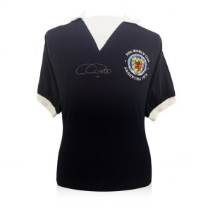 Signed Archie Gemmill Scotland Shirt