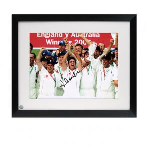 Michael Vaughan Signed And Framed Ashes Photo