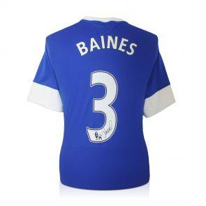 Leighton Baines Signed Everton Shirt
