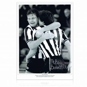 Peter Beardsley Signed Newcastle Photo