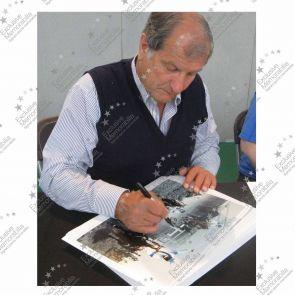 Bob Champion Signed Grand National Photo: Aldaniti. Deluxe Frame