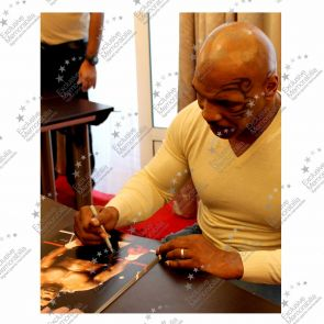 Deluxe Framed Mike Tyson Signed Boxing Photo: Baddest Man On The Planet