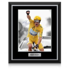 Signed Bradley Wiggins Tour De France Photo