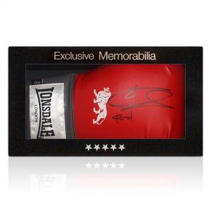 Signed Joe Calzaghe boxing glove in presentation gift box