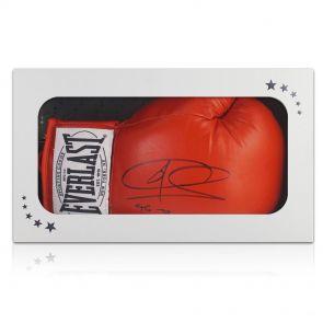 Signed Joe Calzaghe boxing glove in gift box