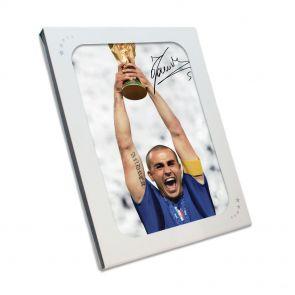 Fabio Cannavaro Signed 2006 World Cup Photo In Gift Box
