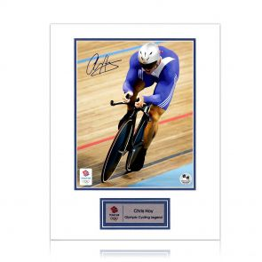 Sir Chris Hoy signed cycling photo