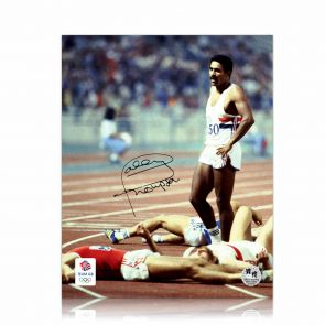 Signed Daley Thompson Photo