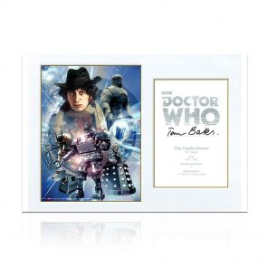 Tom Baker Signed Dr Who Poster In Gift Box