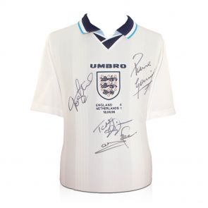 Multi signed England Euro 96 Shirt