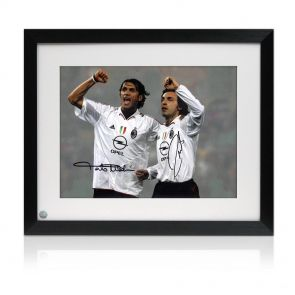Framed photo signed by Paolo Maldini and Andrea Pirlo