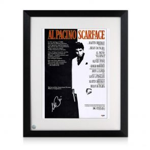 Al Pacino signed and framed Scarface poster