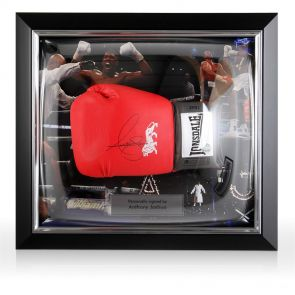 Signed Anthony Joshua Boxing Glove In Dome Frame