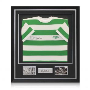 Signed, Framed Billy McNeill Shirt