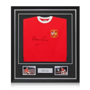 Signed, Framed Denis Law Man Utd Shirt