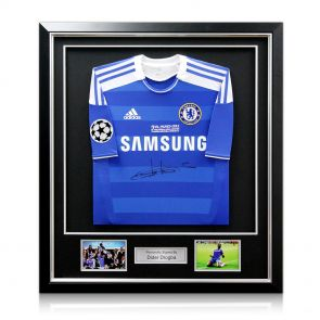 Didier Drogba Signed & Framed Champions League Shirt With Starball