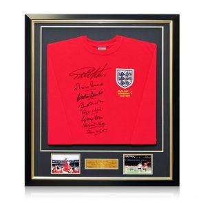 Signed And Framed England 1966 Team Shirt