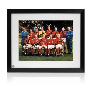 Signed and framed England 1966 team photo