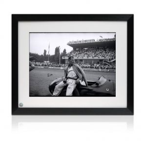 Signed And Framed Stirling Moss Photo