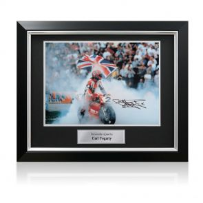 Signed framed Foggy photo