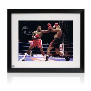 Signed and framed Bruno v McCall photo
