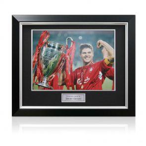 Deluxe framed Steven Gerrard photo