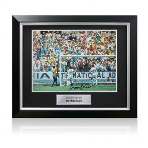Signed framed Gordon Banks photo