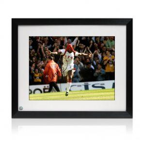 Framed, signed Ian Wright Photo: 179 Goals