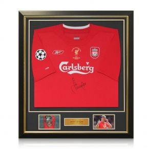 Signed and framed Champions League Shirt