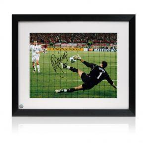 Jerzy Dudek Signed Framed Istanbul Liverpool Photo