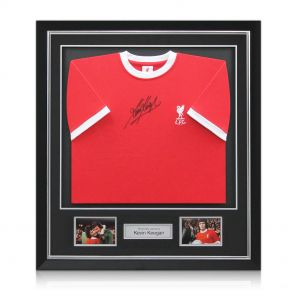 Kevin Keegan Signed And Framed Liverpool Shirt