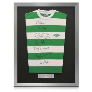 Silver framed signed Lisbon Lions shirt