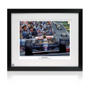 Nigel Mansell Signed And Framed World Champion Photo