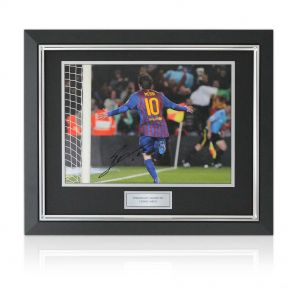 Framed Signed Lionel Messi Photograph