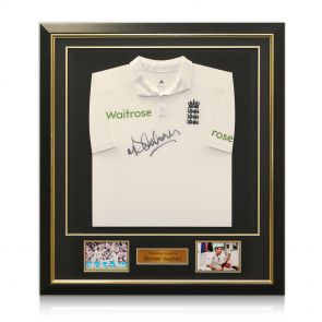 Signed and framed England cricket shirt