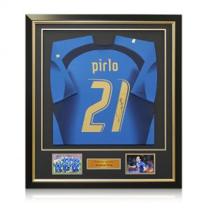 Signed and framed Pirlo World Cup shirt