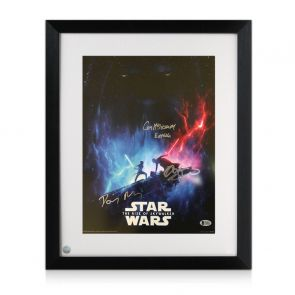 Daisy Ridley, Adam Driver & Ian McDiarmid Signed Star Wars Poster: The Rise Of Skywalker Framed