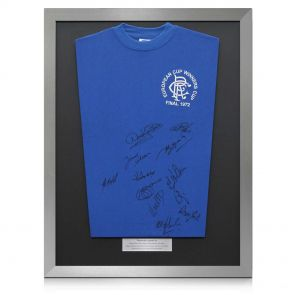 Silver Framed Rangers 1972 Squad Signed Shirt