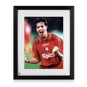 Preframed Robbie Fowler signed photo