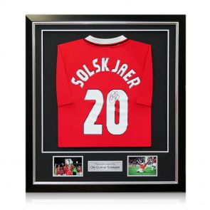 Ole Gunnar Solskjaer Signed Framed 1999 Manchester United Champions League Shirt