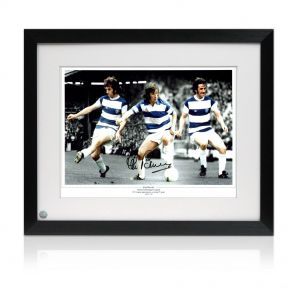 Stan Bowles Signed QPR Photo In Frame