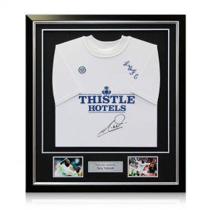 Signed Framed Tony Yeboah Leeds Shirt