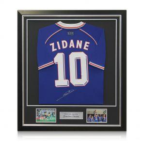 Signed and framed Zidane shirt
