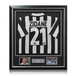 Zinedine Zidane Signed And Framed Juventus Shirt