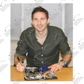 Frank Lampard Signed Chelsea Football Photo: Champions League Winner (Portrait)