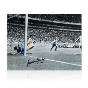 Gordon Banks Signed Photograph: The Greatest Save Ever. In Gift Box